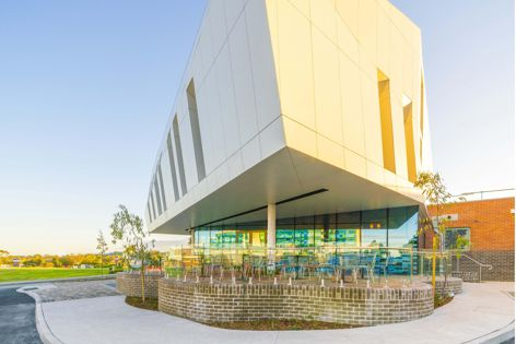 Cemintel Surround panels in 'Whiteish' were specified as part of the $135 million Casey Hospital Expansion project in Melbourne's east by Silver Thomas Hanley. Photography: Tradie Marketing.
