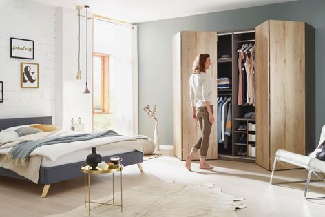 "The WingLine L folding door system by Hettich features a mechanical ""push-to-move"" function for ease of use."