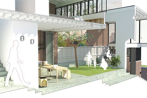 Aiden Murphy and Aaron Peters won this year's Award with a compact courtyard house concept.