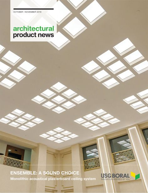 Ensemble Monolithic acoustical plasterboard ceiling system