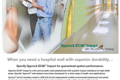 Gyprock EC08 Impact plasterboard