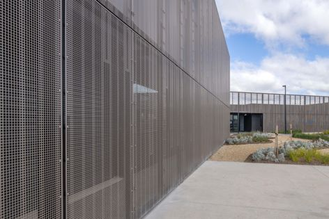 Locker's PicPerf panels feature at the AGT Wheat Breeding Facility in Adelaide. Architect: Ashley Halliday Architecture Interiors.