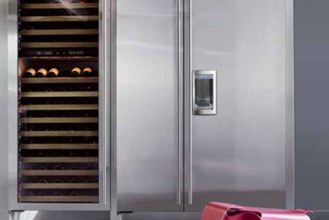 Sub-Zero appliances feature separate compressors to service the refrigerator and freezer.
