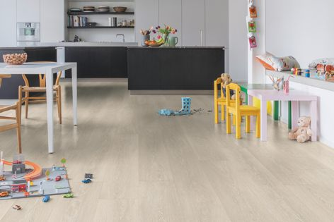 Eight new Majestic laminate flooring designs are now available from Premium Floors, inspired by the latest trends in architecture, fashion and design. Pictured is 'Valley Oak Light Beige.'