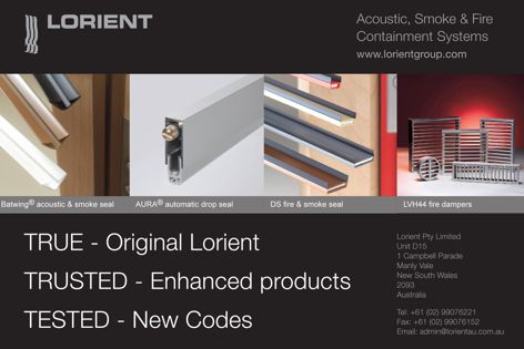 Acoustic, smoke and fire containment systems from Lorient