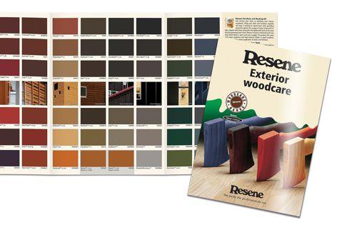 The Resene Exterior woodcare catalogue.