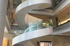Bent and Curved Glass used on feature stair