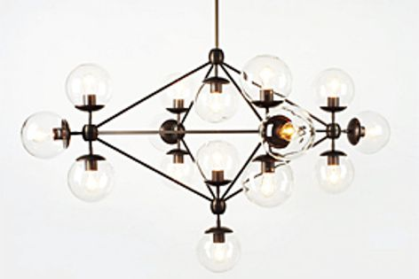 Solid aluminium is custom CNC-milled to create the beautiful Modo Chandelier.