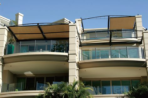 Resistant to strong winds, hard-wearing Helioshade awnings are perfect for coastal environments.