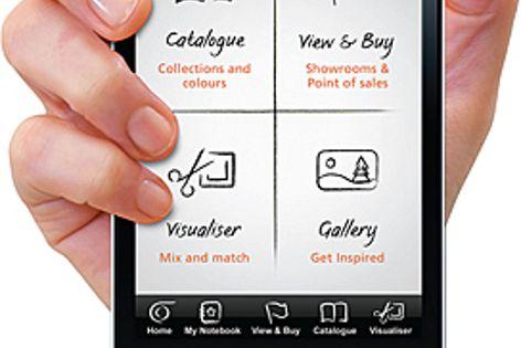 iPhone app by Caesarstone