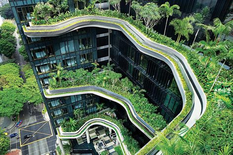 Parkroyal on Pickering in Singapore by WOHA. WOHA founder and director Richard Hassell is a keynote speaker at the Asia Pacific Architecture Symposium. Photography: Patrick Bingham-Hall.