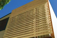 Timber solar shading system from Horiso