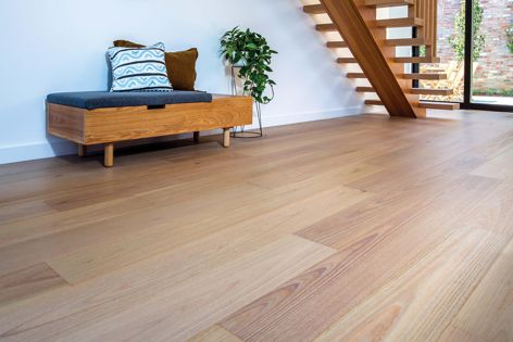 The Australian Oak engineered timber flooring by Australian Sustainable Hardwoods is stable and hardwearing.