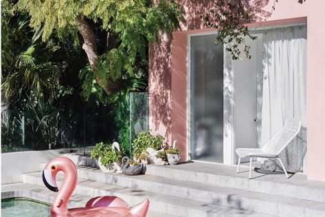 Dulux's Escapade theme features pale mints, pink hues and pops of black. Photography: Lisa Cohen.