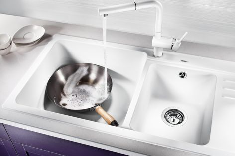 Add beauty and functionality to the kitchen with the Blanco NAYA8S sink from Shriro.