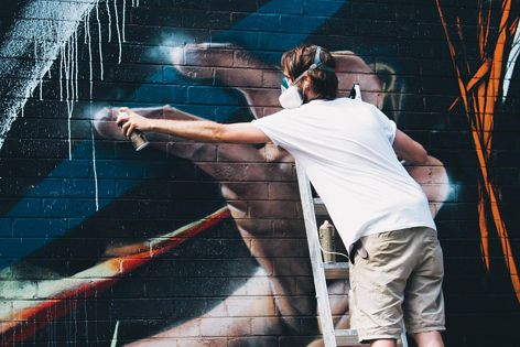 Contemporary artist Adnate (Melbourne). Photograph: Chris Phillips for Occasionally Good.