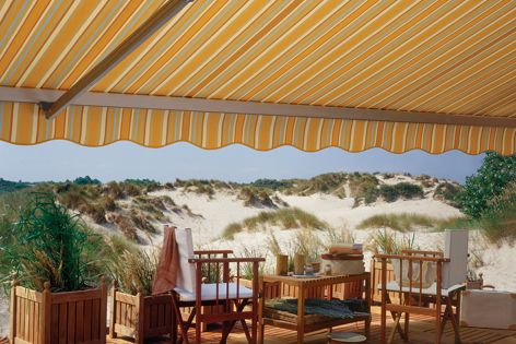 Fabric awnings using Sunbrella reduce energy consumption.