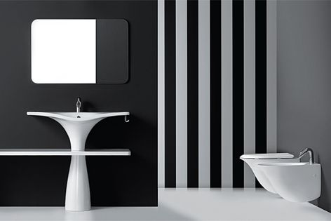 Energy-saving techniques are important to the design of Nero Ceramica bathroom products.