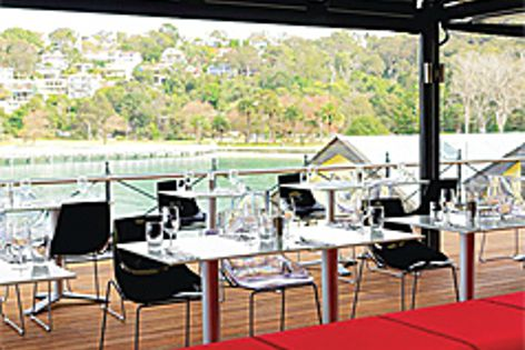 Durable Sunbrella awnings at Sydney's Ripples Chowder Bay restaurant.