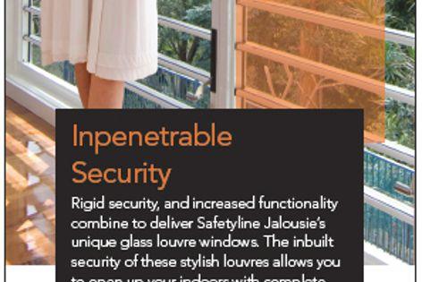 Safetyline Jalousie secure louvres