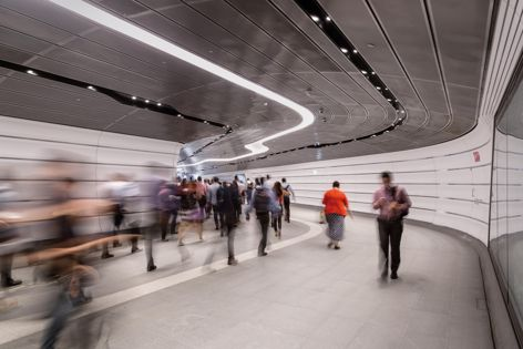 Wynyard Walk by Woods Bagot, winner of the Public Design category and Sustainability Advancement Award. Photography: Trevor Mein.