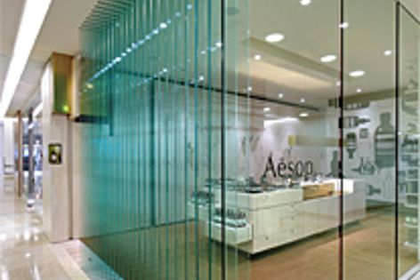 Winner, Creative Use of Glass in Interiors, Commercial: Aesop Chatswood by Ryan Russell.