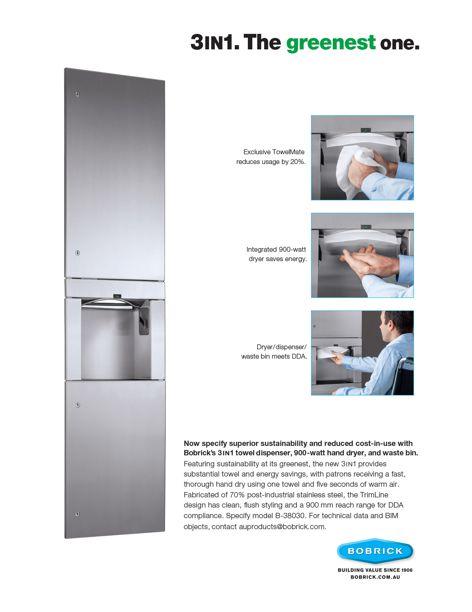 3IN1 towel dispenser by Bobrick