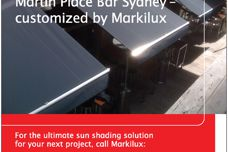 The ultimate sun shading for Martin Place Bar