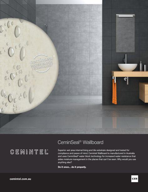 CeminSeal Wallboard from CSR Cemintel