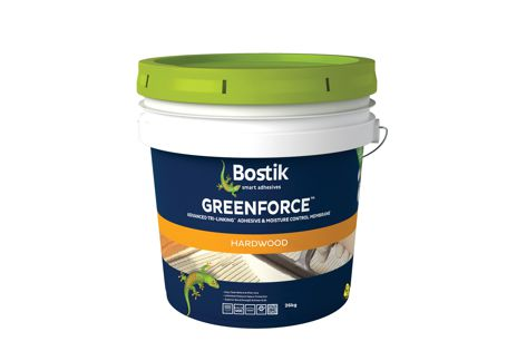 Bostik's Greenforce is a two-in-one formula that is easy to use and offers moisture protection and a powerful bond.