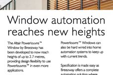 Window automation reaches new heights
