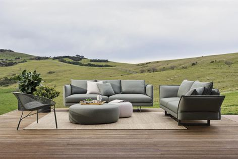 A new outdoor furniture collection from King Living features a redesign of the iconic Zaza sofa.