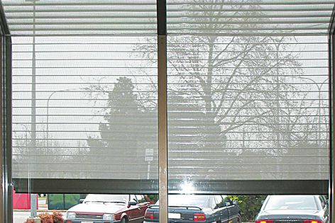 Installing Blockout shutters on glass areas can reduce heat and cold entering buildings.