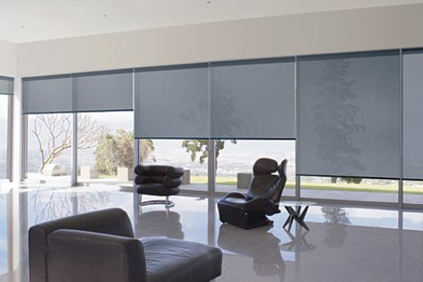 Sunscreen fabrics by Hunter Douglas Commercial come in a range of openness factors.