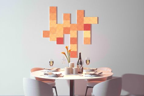 The Nanoleaf Canvas can change the ambience of a home with a single touch.