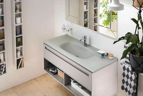 The Progetto + range is available in a variety of colours and finishes.