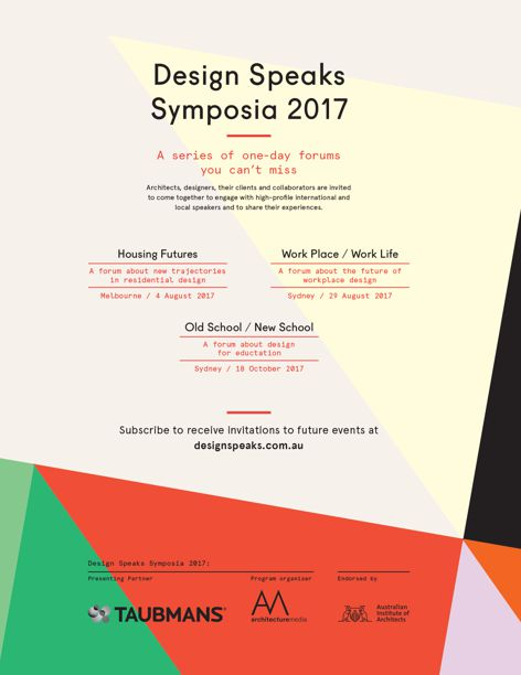 2017 Design Speaks symposia