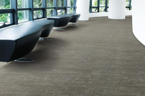 Moso, pictured in the colour 'Acorn,' is one of three styles in the Entwined Collection of broadloom carpet, designed for aged and acute healthcare environments.