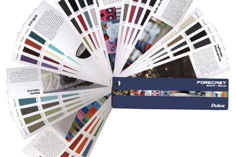 New colour palettes for 2009/2010 are forecast in the new Dulux fandecks.