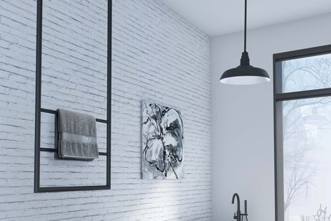 The DCS hanging heated towel rail is low voltage, making it safe for wet areas.