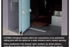 Frameless glass breakout system by Dorma