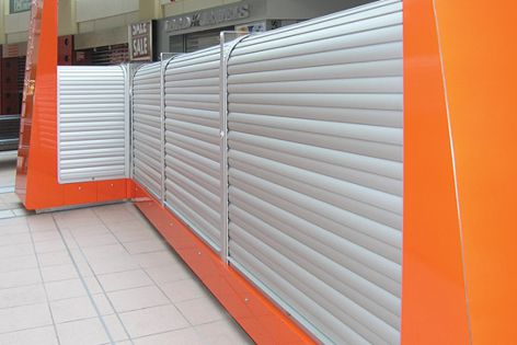 Retail shop fitouts and point of sale counters can be fitted with Blockout Roller Shutters.