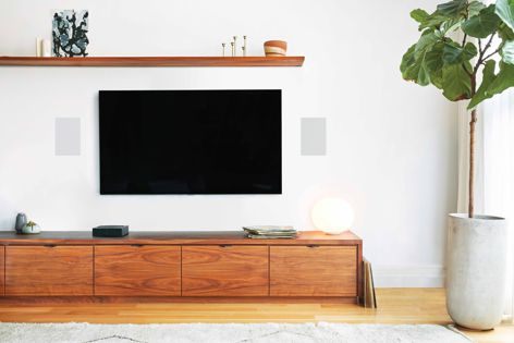 Sonic architecture with Sonos Architectural speakers and the Sonos Amp – space-filling sound that doesn't take up space.