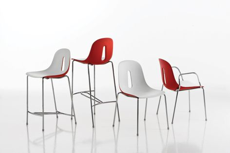 The Gotham chair is available in many different colours and a large range of base options.