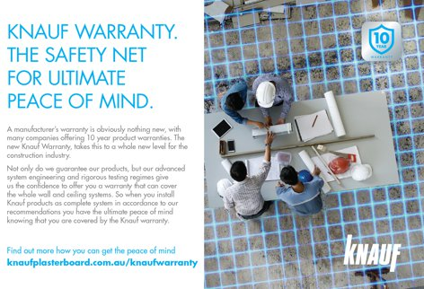 Warranty for walls and ceilings from Knauf