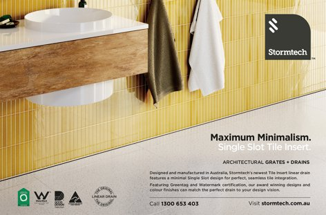 Maximum minimalism – Single slot tile insert