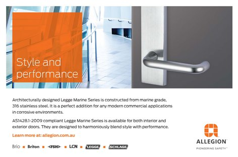 Legge Marine door hardware from Allegion