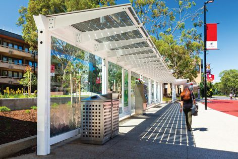 Stoddart Outdoor Infrastructure was commissioned to design, manufacture and install several shelters as part of La Trobe University's Science Drive bus terminus upgrade at the Bundoora campus, Melbourne.