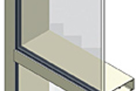 The Ecowall 225 can eliminate the need for expensive steel window frames.