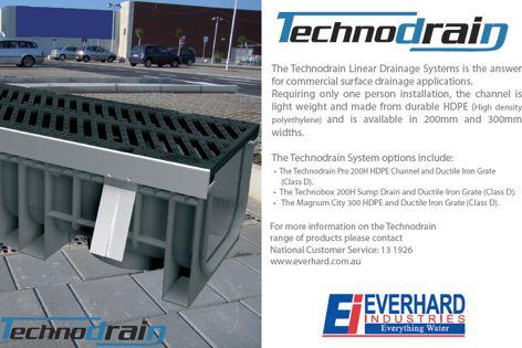 Technodrain linear drainage systems